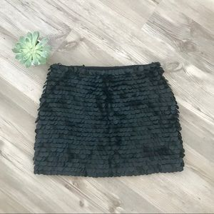 [ZARA] Black mini mermaid scales skirt